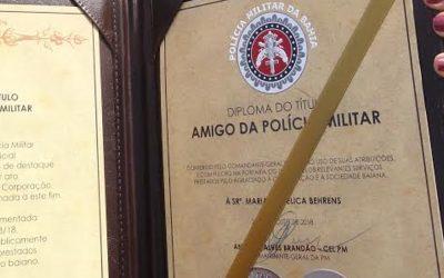 Presidente da ABO-BA recebe comenda da Polícia Militar